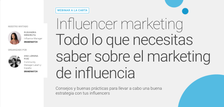 Influencer marketing [Webinar]